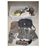 HUNTING SUPPLIES: PADDED SEAT, BAGS, ETC.