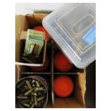 GROUPING: BRASS FOR RELOADING AND PARTIAL BOX OF