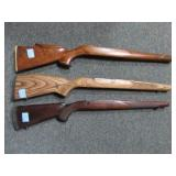 3 WOODEN GUN STOCKS