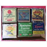 6 VINTAGE BOXES OF SHOTGUN SHELLS