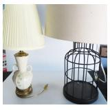 2 LAMPS: BIRD CAGE STYLE AND BELEEK