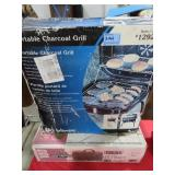 2 PORTABLE CHARCOAL GRILLS