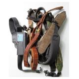 GROUPING: RIFLE SLINGS AND PISTOL HOLSTER