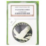 2008 BALD EAGLE SILVER DOLLAR NGC PF69UC