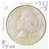 1927 S PEACE DOLLAR VF