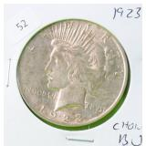1923 PEACE DOLLAR CHOICE BU