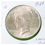 1924 PEACE DOLLAR CHOICE BU