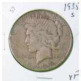 1935 S PEACE DOLLAR VF