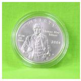 THOMAS EDISON SILVER DOLLAR W BOX PAPERS