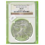 2011 S SILVER EAGLE NGC MS70
