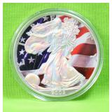 2005 COLORIZED SILVER EAGLE
