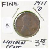 1911 D LINCOLN CENT F