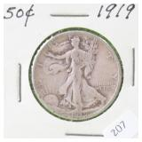 1919 WALKING HALF DOLLAR G