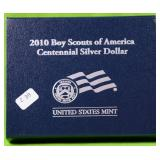 BOY SCOUTS SILVER DOLLAR W BOX PAPERS