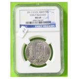 US ARMY HALF DOLLAR NGC MS69