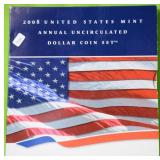 2008US MINT ANNUAL UNCIRCULATED DOLLAR SET