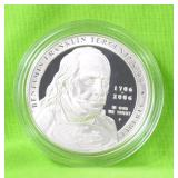 BEN FRANKLIN PROOF SILVER DOLLAR