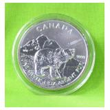 CANADA POLAR BEAR 1 OZ.9999 SILVER GEM