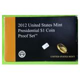 2012 PRESIDENT DOLLAR PROOF SET