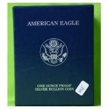 2002 PROOF SILVER EAGLE W BOX PAPERS