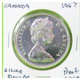 1967 CANADA SILVER DOLLAR PROOF LIKE