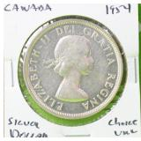 1954 CANADASILVER DOLLAR CHOICE BU