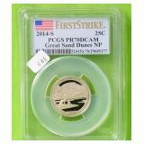 GREAT SAND DUNES NP SILVER QUARTER PCGS PF70DC