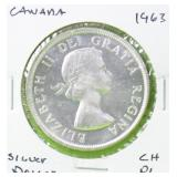 1963 CANADA SILVER DOLLAR CHOICE PROOF LIKE