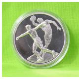 GREECE SILVER OLYMPIC 10 EURO GEM RARE