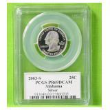 2003 S ALABAMA SILVER QUARTER PCGS PF69DC