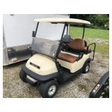 2008 48V CLUB CAR W/CHARGER LEATHER SEATS