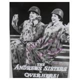 """""""THE ANDREW SISTERS"""" AUTOGRAPHED PLAY BILL"""