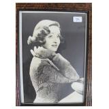 """""""BETTE DAVIS"""" AUTOGRAPHED PHOTO PERSONALIZED TO"""