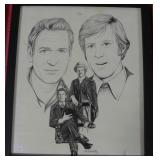 PRINT OF ROBERT REDFORD AND PAUL NEWMAN AS BUTCH