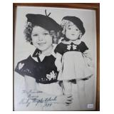 """""""SHIRLEY TEMPLE BLACK"""" AUTOGRAPHED PHOTO"""