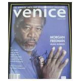 """MORGAN FREEMAN"" AUTOGRAPHED MAGAZINE COVER"