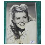 """""""ALICE FAYE"""" AUTOGRAPHED PHOTO PERSONALIZED TO"""