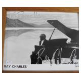 """""""RAY CHARLES"""" AUTOGRAPHED PHOTO PERSONALIZED TO"""