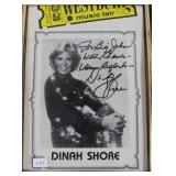 """""""DINAH SHORE"""" AUTOGRAPHED PHOTO PERSONALIZED TO"""