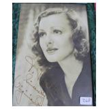 """""""VIRGINIA GREY"""" AUTOGRAPHED PHOTO PERSONALIZED TO"""