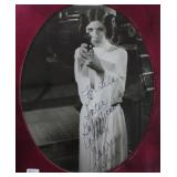 """""""CARRIE FISHER"""" AUTOGRAPHED PHOTO PERSONALIZED TO"""