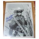 """""""CLAYTON MOORE"""" AUTOGRAPHED PHOTO"""