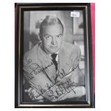 """""""BOB HOPE"""" AUTOGRAPHED PHOTO PERSONALIZED TO"""