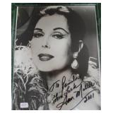"""""""ANNE MILLER"""" AUTOGRAPHED PHOTO PERSONALIZED TO"""