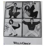 WILL & GRACE CAST AUTOGRAPHED PHOTO SIGNATURES: