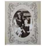 PHOTOGRAPH OF 2 YOUNG LADIES IN ANTIQUE PHOTO