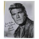 """""""CHUCK CONNORS"""" AUTOGRAPHED PHOTO"""