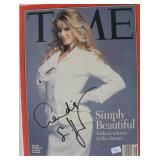 """""""CLAUDIA SCHIFFER"""" AUTOGRAPHED COVER OF TIME"""