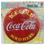 REPRODUCTION - NEW COCA-COLA BUTTON - 12""