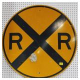 "METAL RAIL ROAD CROSSING SIGN - 36"" SINGLE SIDED"